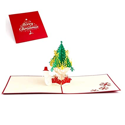 haayward christmas tree greeting cards 3d pop up card gift card for your