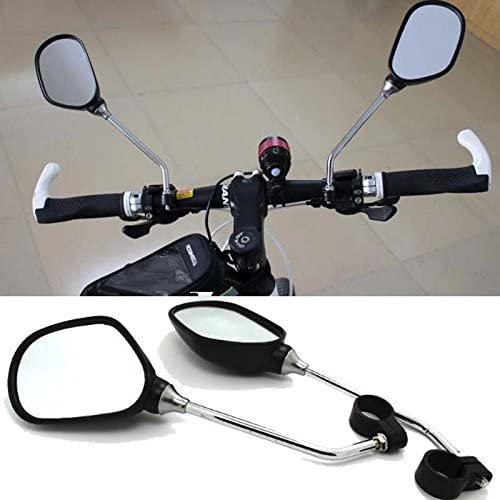 1Pair Bicycle Handlebar Rearview Mirrors Reflective Cycling Wide Angle 360/° Rotation for MTB Mountain Road Cycling Bicycle Electric Bike Mobility Scooter