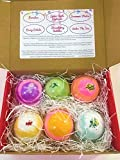 6 XL Shopkins Surprise Bath Bomb Gift Set in fun assorted scents and colors-The Island Bath & Body-Made In USA- Shea & Cocoa Butter
