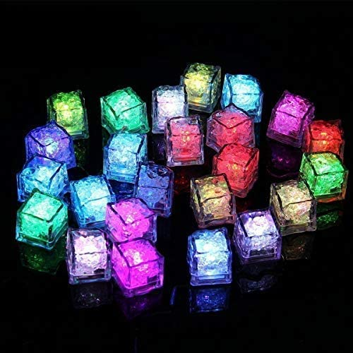 Binnan 12 Stücke LED Eiswürfel,LED Ice Cube Dekorative für Party,Hochzeit,Club und Bar