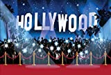 Photo : Celebrity Hollywood Paparazzi Night Sky Tree Red Carpet backdrop Computer print party backgrounds LV-131