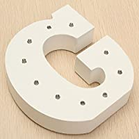 Decorative Light Up Letras Tu Nombre en las Luces,KINGCOO Batería de Madera Alfabeto Letter Signs Decorativa con Luz LED,Party Wedding ...