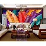 LIWALLPAPER-Carta-Da-Parati-3D-Fotomurali-Colore-Piuma-Moderno-Camera-da-Letto-Decorazione-da-Muro-XXL-Poster-Design-Carta-per-pareti-200cmx140cm