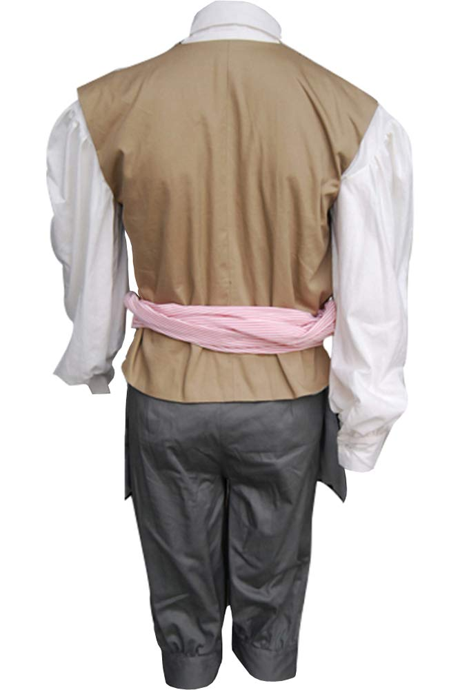 Cosplaysky Halloween Jack Sparrow Costume Pirates of The Caribbean 4 Cosplay Coat XXX-Large by Cosplaysky (Image #8)