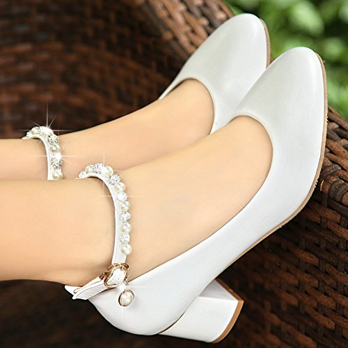 KHSKX-In The New Autumn The Single Shoe Woman Is Comfortable With The Round Head Of The Woman'S Shoes And The Working Shoes Of The Women'S Shoes. White