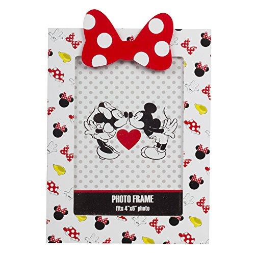 Disney Minnie Mouse Pictures (Disney Mickey and Minnie Mouse Red Heart Bow Picture Frame in Window Box)
