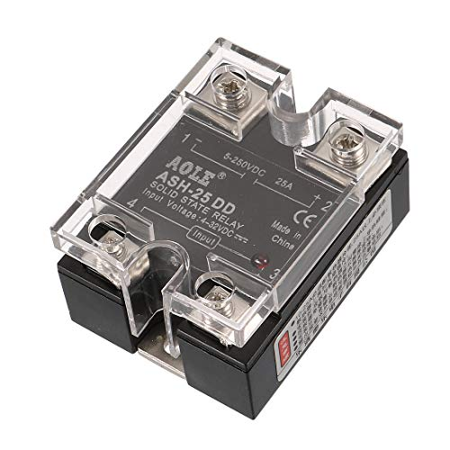 uxcell ASH-25DD 3-32VDC to 5-250VDC 25A Single Phase Solid State DC-DC Relay Authorized