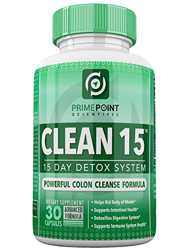 Prime Point Scientific CLEAN 15 Advanced Formula Powerful Complete Detoxifying System with: Best Colon Cleanse for Weight Loss, Increased Energy and Bowel Regularity 30 Tablets