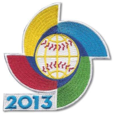 2013 WBC World Baseball Classic Logo Jersey Sleeve Patch Official Spinner MLB