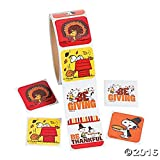 Peanuts Fall Thanksgiving Stickers Roll (100 Stickers)