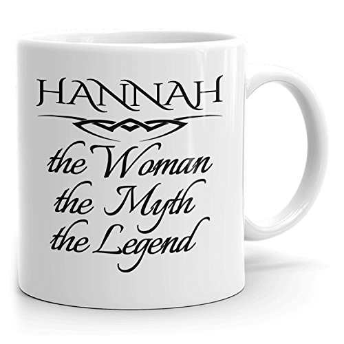 Best Personalized Womens Gift! The Woman the Myth the Legend - Coffee Mug Cup for Mom Girlfriend Wife Grandma Sister in the Morning or the Office - H Set 2
