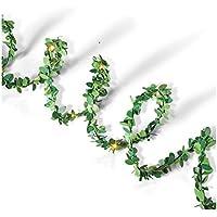 Everlasting Glow 44239 10 Green Boxwood LED Garland Christmas, 4.3InL x 4.33InW x 6InH