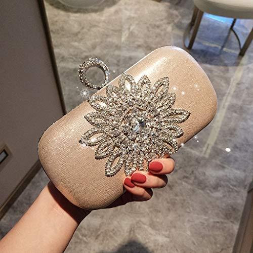Flower Qipao JUZHIJIA gold Retro Bag Grip Hand Mini Handbag Bag Dress Fashionable sun 5 7 Banquet Packet rPr5qgw