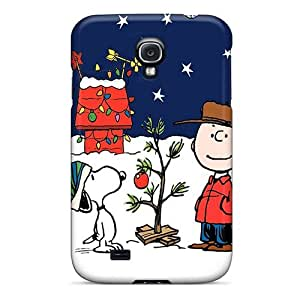 Durable Protector Case Cover With Peanuts Charlie Brown Christmas Hot Design For Galaxy S4