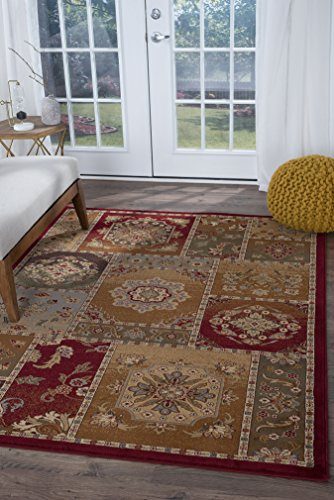 Universal Rugs Chelsea Transitional Oriental Multi-Color Rectangle Area Rug, 5' x 8'