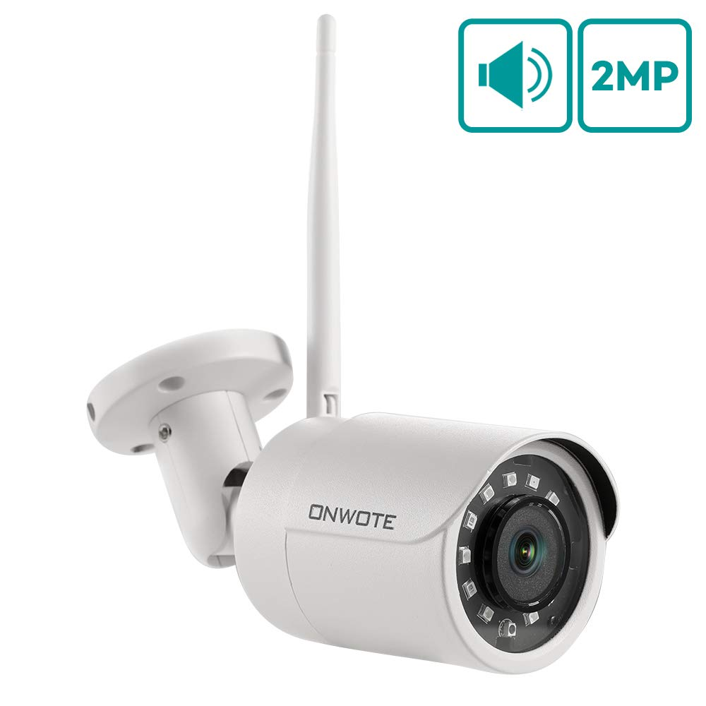 ONWOTE Add on Camera- 1080P Full HD Audio WiFi PTZ IP Camera, Work with ONWOTE WiFi NVR