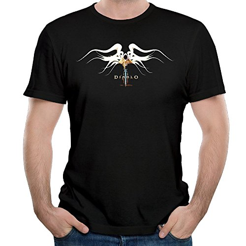 Naviiro Men's Diablo Video Game Fallen Angel Short-Sleeve Tshirt Black M - Fallen Angel T-shirt
