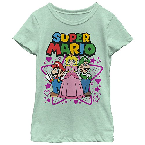Price comparison product image Nintendo Super Mario Character Trio Girls Graphic T Shirt