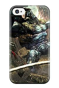 Flexible Tpu Back Case Cover For Iphone 4/4s - Anarchy Reigns Warrior Sci-fi Anime Monster Battle wangjiang maoyi