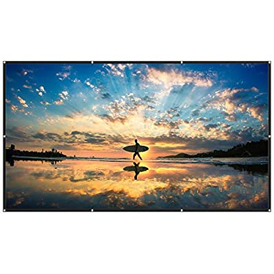 TaoTronics Projection Screen Fabric 120 inch 16:9 Ratio Foldable Projector Screen Anti-Crease Portable Movies Screen for Outdoors & Indoors (1.1 Gain, 160° Viewing Angle & Includes a Carry Bag)