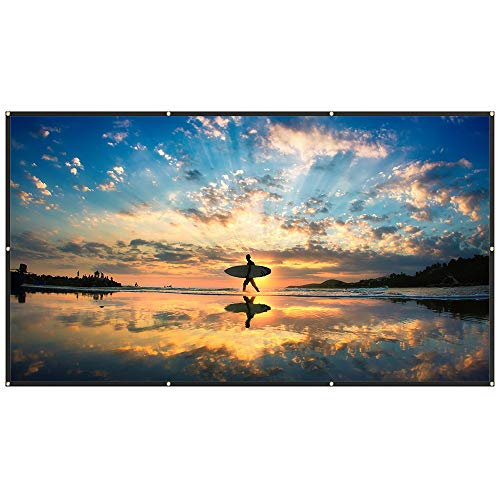 TaoTronics 120 Inch Projector Screen 16: 9 HD Only $14.99