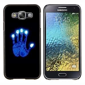 BearCase / Cubierta de protección Caso duro de la contraportada de Shell Plástico /// Samsung Galaxy E5 E500 /// Brillante Azul Mano