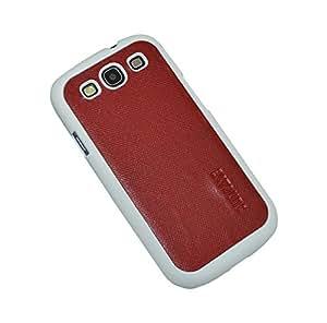 Suncase Leather Case - Carcasa para Samsung Galaxy S3, blanco y rojo