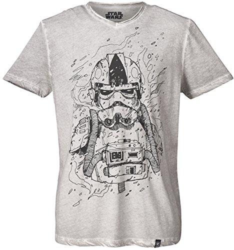 GOZOO star-wars T-Shirt Herren Imperial Stormtrooper Pencraft Oil Dye