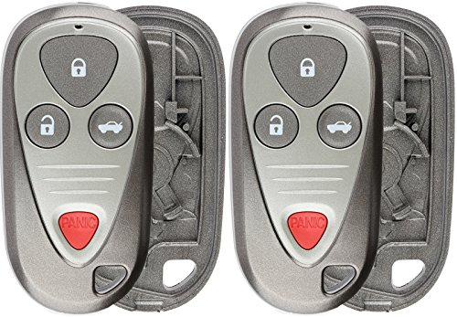 Acura Tsx Type - KeylessOption Keyless Remote Car Key Fob Shell Case Button Pad Cover for Acura MDX, RSX, TL, CL, RL E4EG8D-444H-A, OUCG8D-387H-A (Pack of 2)