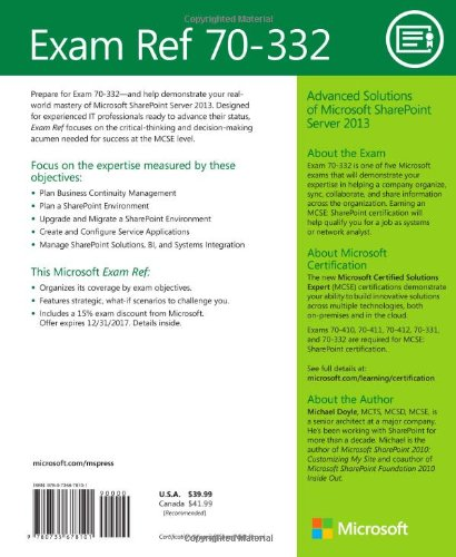 Buy Exam Ref 70-332: Advanced Solutions of Microsoft SharePoint ...