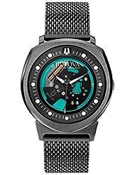Bulova 98A136 Mens Watchs BA11 Black Steel Bracelet Watch