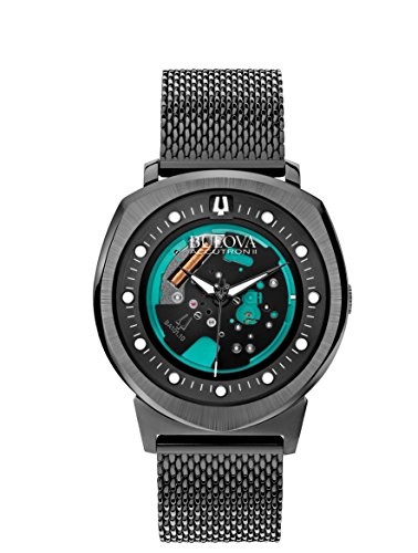 - Bulova 98A136 Men's Watchs BA11 Black Steel Bracelet Watch