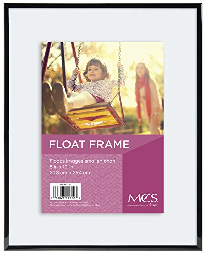 MCS Float Frame 8 by 10-Inch, Black (Glass Floating Frame)