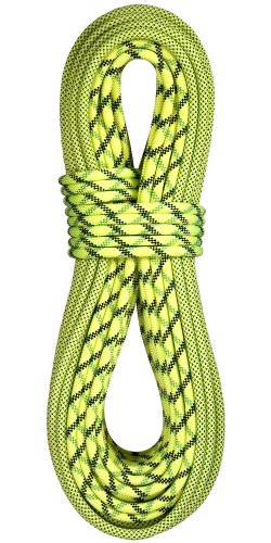 BlueWater Ropes 9.7mm Lightning Pro Double Dry Dynamic Single Rope (Bi-Pattern Flavine, 70M)