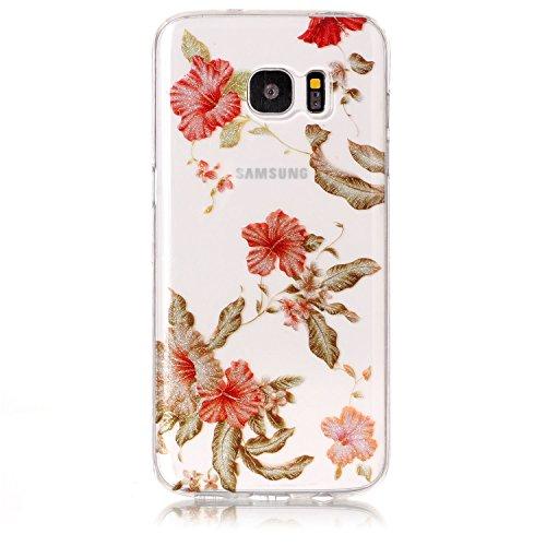 Funda Samsung Galaxy S7 edge,SainCat Moda Alta Calidad suave de TPU Silicona Suave Funda Carcasa Caso Parachoques Diseño pintado Patrón para CarcasasTPU Silicona Flexible Candy Colors Ultra Delgado Li Azalea