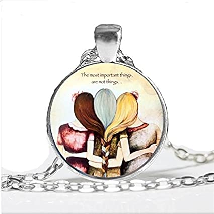 Amazon Com Three Sisters Best Friends Necklace Jewelry Art Best Friend Glass Friendship Gifts Necklace Arts Crafts Sewing