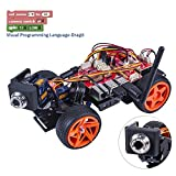 SunFounder Raspberry Pi Smart Video Car Kit V2.0 Block Based Graphical Visual Programming Language Remote Control by UI on Windows/Mac and Web Browser Electronic Toy with Detail Manual
