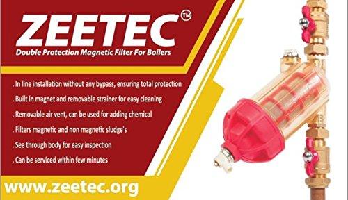 Zeetec Modèle 2Double protection filtre magnétique 22mm, filtre de chaudière, chauffage central