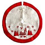 90CM/35.4'' Round Xmas Tree Skirt Ornaments Merry Christmas Tree Decoration Santa design superior quality