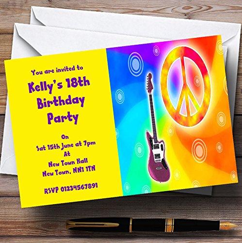 excelentes precios 150 150 150 Invitations Hippy Retro Hippie - Invitaciones personalizadas para fiestas  gran selección y entrega rápida