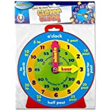 Premier Stationery 2XMagnetic Clock 54992 Clever Kids