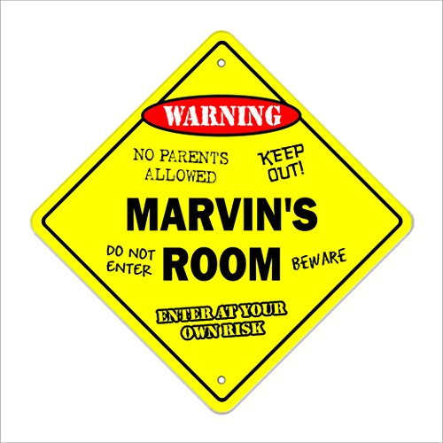 Marvin's Room Sign Crossing Zone Xing | Indoor/Outdoor | 12