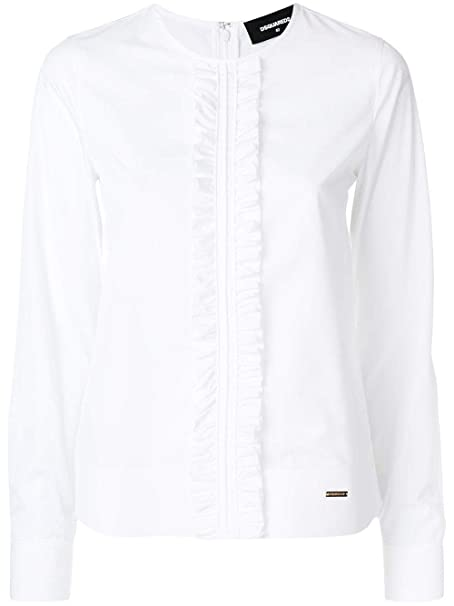 es Amazon Blanco S75dl0535s35244100 Algodon Dsquared2 Mujer Blouse xwqYzxFR