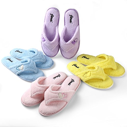 Ladys Cute Home Slipper Comfy Soft Sole Indoor Bedroom Slippers Classy Spa Open Toe Slide Slipper