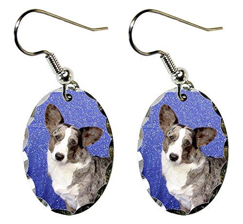 (Canine Designs Cardigan Welsh Corgi Scalloped Edge Oval)