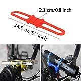 Flashlight Bike Mount Silicone Strap Rubber Tie