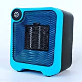 lazy Elf Ceramic Space Heater,Portable Efficient Energy Quiet Mini Heater for Home, Office, Baby Room with Tipping&Overheat Protection,2s Fast Heating,Small Electric Heater - 500W Blue