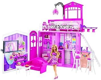 Amazon.es: Barbie Casa Glam con Muneca: Juguetes y juegos