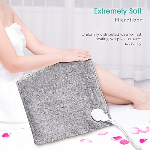 Heating Pad, 12'' X 24'' Large Size Ultra Soft Heat Therapy Wrap for Back, Abdomen, Hand, Shoulder Legs, Waist, Dry/Moist Heating Pad with Auto Shut Off by PROALLER by PROALLER (Image #6)