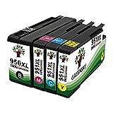 GREENSKY 4 Pack(1B 1C 1M 1Y)HP 950 951 950XL 951XL New High Yield ink cartridge BCYM For HP Printer Pro 8100 8100e 8620 8630 8600 8610 8615 8630